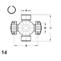 Type 14 - 2 Wing & 2 Ext Snap Ring