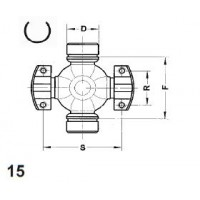 Type 15 - 2 Wing & 2 Int Snap Ring