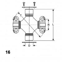 Type 16 - 2 Weld & 2 Wing Bearings