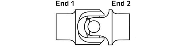 "Universal Steering Shaft U-Joint 7//8/"" Bore Weld-on /& 3//4/"" 36 Spline ST013"